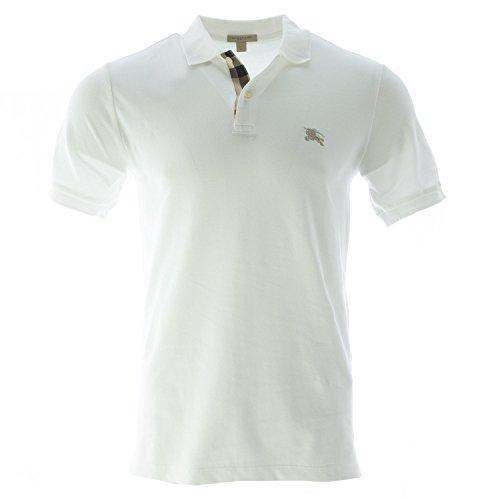 Burberry Brit Men's Check Placket Polo Shirt, Medium, - Burberry White
