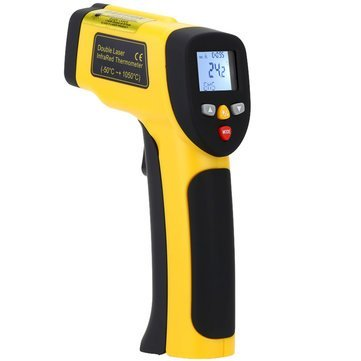 Measurement & Analysis Instruments Temperature Measurements - HT-819 High Precision Digital Double Laser Non Contact Laser IR Infrared Thermometer Temperature Tester Pyrometer Range -50~1050°C