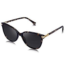 AVAWAY Oversized Polarised Sunglasses Women Retro Eyewear UV400 Acetate Frame