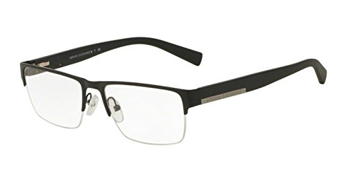 Armani Exchange AX1018 Eyeglass Frames 6063-54 - Matte Black AX1018-6063-54