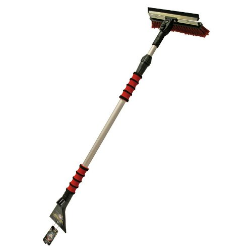 Petex 4604 46040000 Snow Brush/Ice-Scraper with Rubber Lip 90° Swivelling Telescopic Handle Bar Length 95-150 cm
