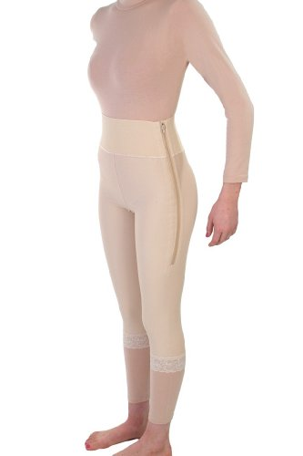 Post Surgical liposuction bbl Compression Garment - Abdominoplasty surgery Recovery 4in Girdle | ContourMD : Style 2 - Medium - Beige Contour Compression Garments