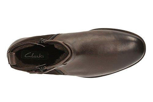 Clarks Sportlich-Elegant Herren Brocton Mid Leder Stiefel In Braun