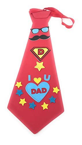 Bulk Pack of 10 Fun Tie Crafts for Dad - Ideal for Birthdays, Christmas, and Father