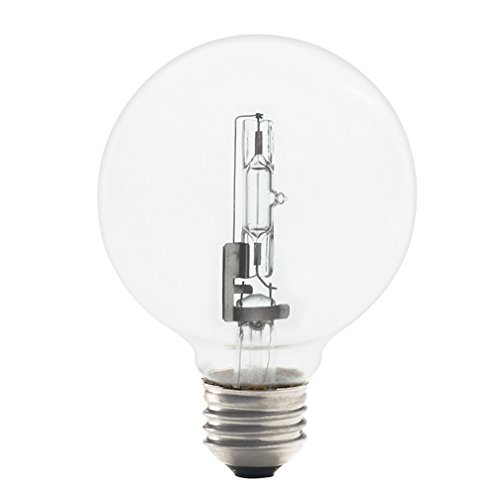 G25 Eco Halogen Medium Base Bulb [Set of 8] Wattage: 43 Watt