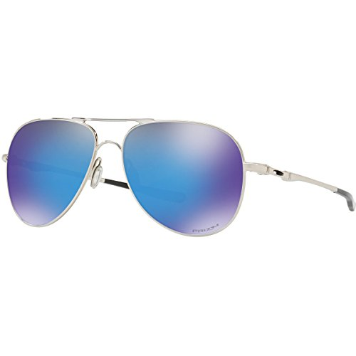 Oakley Men's Elmont L Sunglasses, Polished Chrome/Przm Sap, One - Elmont Oakley