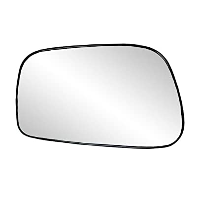 Fit System 88186 Toyota Corolla/Matrix Left Side Power Replacement Mirror Glass with Backing Plate: Automotive