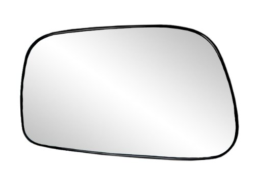 Fit System 88186 Toyota Corolla/Matrix Left Side Power Replacement Mirror Glass with Backing Plate (Matrix Side Toyota Mirror)