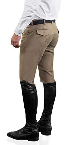 Ovation Men's Euroweave Four Pocket Full Seat Dx Breeches White 32 R US