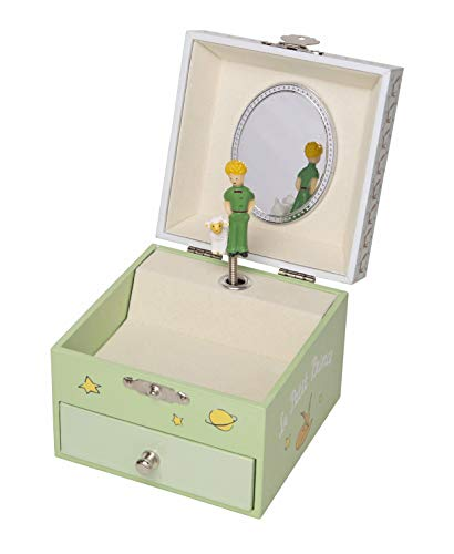 Trousselier - Little Prince - Photoluminescent Musical Cube Box- Glow in The Dark - Garden - Green ()