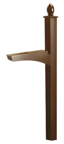 ARCHITECTURAL MAILBOXES Decorative in-Ground Post, Rubbed Bronze