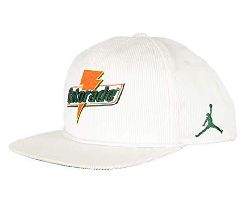 Nike Retro Hat - NIKE Air Jordan Pro Like Mike Baseball Cap Adult Adjustable White/Orange/Green (One Size Fits Most)