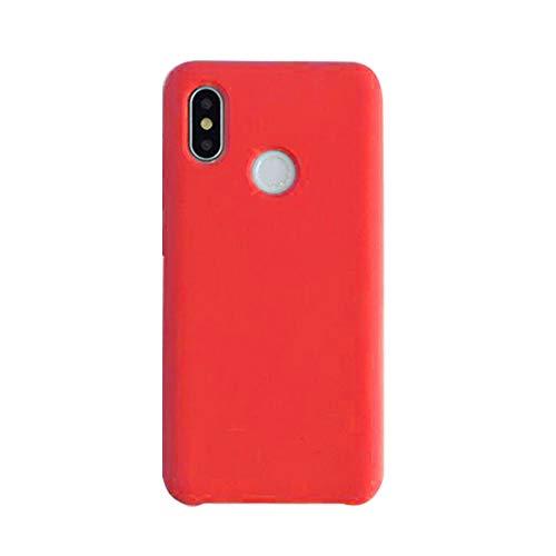 Price comparison product image Case for Xiaomi Mi 8 Cover 360 Degree Protective Cover Xiaomi Mi 8 SE Liquid Silicone Soft Shell Shock-Absorption Bumper (Mi8, Red)