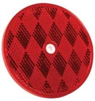 Red Per Package of 10 Imperial 81788 Round Center Hole Reflector 3