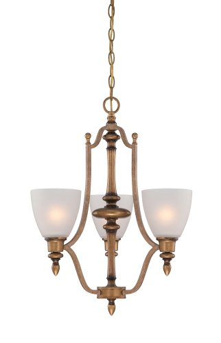 (Designers Fountain 85683-ABS  Isla 3 Light Chandelier, Aged Brass)