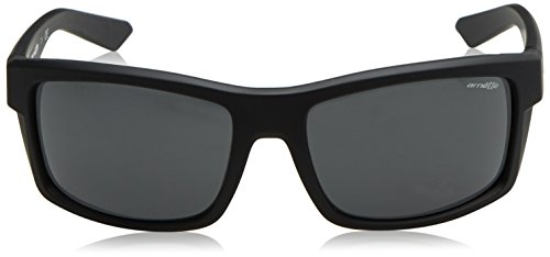 Arnette Men's Corner Man Rectangular Sunglasses, Fuzzy Black, 61.1 mm