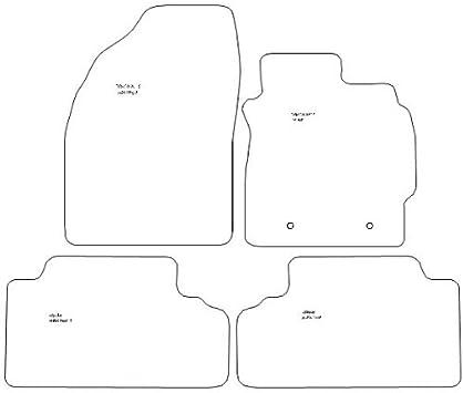 Anthracite Carpet 738 Ultra Durable Full Width Heel Pad Grey Heel Pad Grey Trim Car Mats to fit Auris 2006-2012