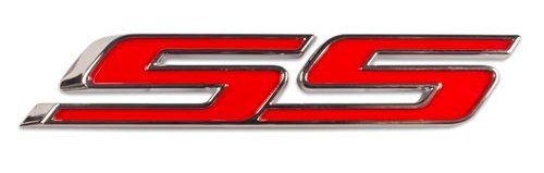 SS Super Sport Front Grill Red Chrome Emblem Badge Decal