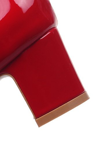 GGX/ Damen-High Heels-Büro / Lässig-Lackleder-Blockabsatz-Absätze / Spitzschuh-Schwarz / Rosa / Rot / Weiß pink-us5 / eu35 / uk3 / cn34