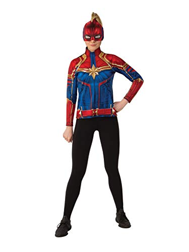 Rubie's Women's Captain Marvel Hero Top and Headpiece, as as Shown, Large]()