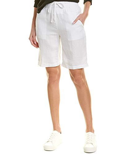 James Perse Womens Pull-On Linen Short, 1, White ()