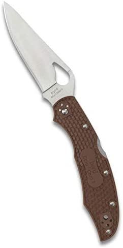 Byrd Cara Cara 2 Lightweight Folding Knife with 3.75 Stainless Steel Blade and Brown Non-Slip FRN Handle – PlainEdge – BY03PBN2