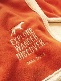 Tall Tails Dog Orange Explore Pet Blanket 30 X 40