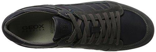 Geox U Box D, Zapatillas para Hombre Gris (Anthracite/navy)