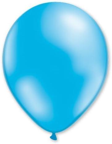 Lote de globos 100 unidades, color azul, 100% látex, 30 cm, aire o ...