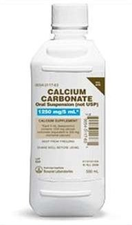 CALCIUM CARB ORAL SUSP 1250MG 500ML ROXANE LABORATORIES INC. [Health and Beauty]