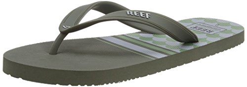 Green Green Switchfoot Reef Prints Homme Multicolore Grey Tongs Grey SHgwq