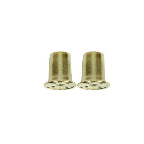Jandorf Finial 1 In., 1/4 In. Pack / 2 Brs Finish