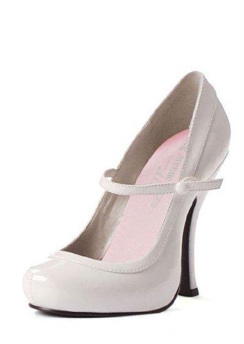 Piattaforma Babydoll 6 1 Jane Mary 4 With uk Nascosta Shoe Bianco 55ISOxw