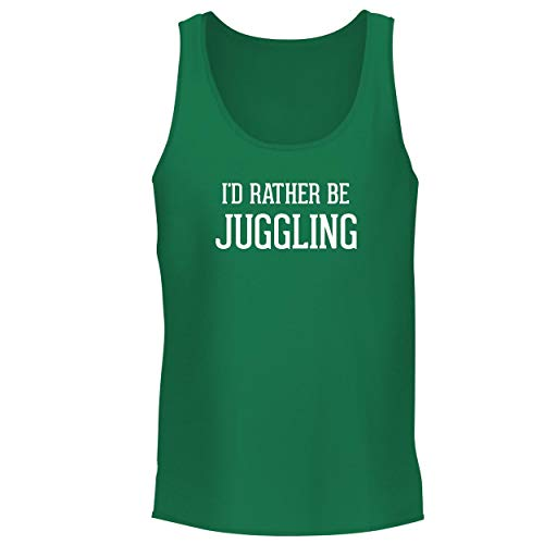 Desert Ring Glow (BH Cool Designs I'd Rather Be Juggling - Men's Graphic Tank Top, Green, Large)