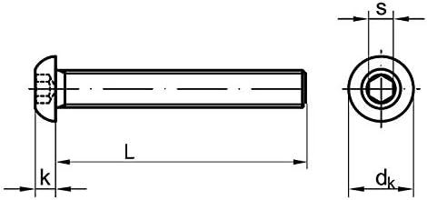50 Stk Linsenkopfschraube ISO 7380-1 M8 x 30 Stahl 10.9 verzinkt