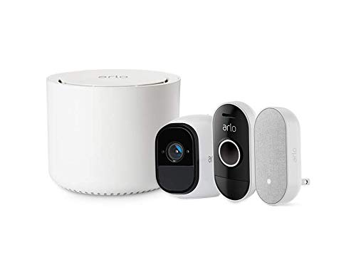 Arlo Smart Home Pro HD Wireless Camera Plus Audio Doorbell and Chime System