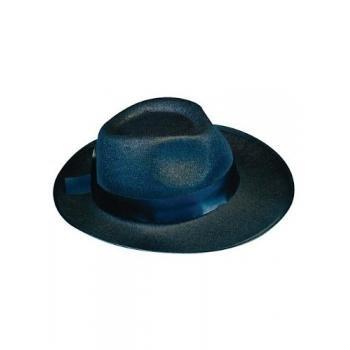 Deluxe Felt Gangster Hat - Black (Girl Gangster Halloween Costumes)