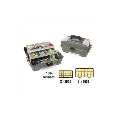 Flambeau Tackle 2 Tray Kwikdraw Tackle Box (Green, 18x10x9.75-Inch)