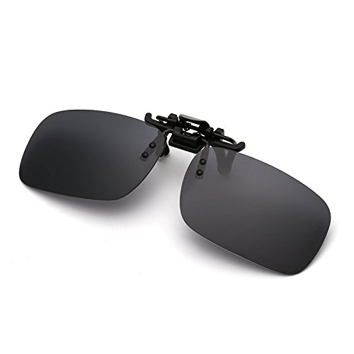 a56d9021ee Amazon.com   EDTara Polarized Glasses for Men Women Day Night Vision  Driving Sunglasses Clip-on Flip-up Lens for Driving Antiglare Sunglasses    Sports   ...