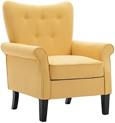 Artechworks Tufted Upholstered Accent Arm Chair
