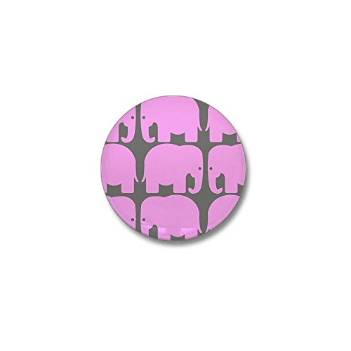 CafePress - Pink Elephants Silhouette Mini Button - 1