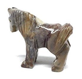 Horse Soapstone Animal Carving Charm Totem Figurine | 1.5