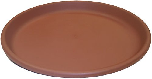 Erva D17CL 17 in. dia. Bird Bath Plastic Dish; Terra Cotta