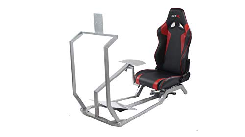 GTR Simulator - GT Model with Real Racing Seat, Driving Racing Simulator Cockpit with Gear Shifter Mount and Single Monitor Mount