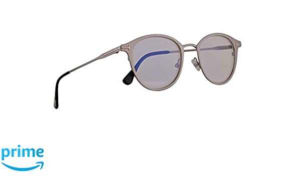 be91354826c Amazon.com  Tom Ford FT5528-B Eyeglasses 49-20-145 Shiny Ruthenium w Demo  Clear Lens 009 FT 5528-B TF 5528-B TF5528-B  Clothing