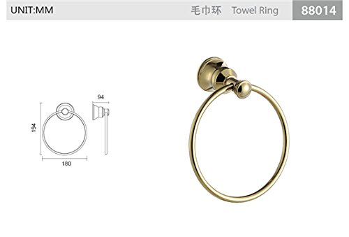 TACCY Bathroom Towel Ring/Towel Rail/Towel Bar Brass Made in Polished Gold #QL88