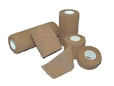 "Self-Adhesive Elastic Bandages - Non Sterile - 1"" x 5 Yard - 30 Each / Case"
