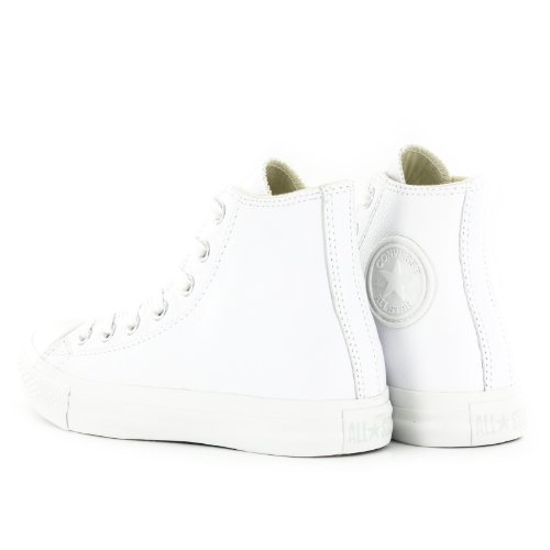 Taylor Hi Adulte Leather Converse White Sneakers All Mixte Mono Star Haute Chuck 5Xqn4Tf