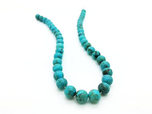 Blue Ridge Turquoise 10mm Natural Turquoise Round Bead Strand (16'' Strand)
