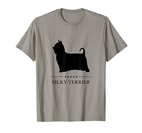 Silky Terrier Black Silhouette  T-Shirt